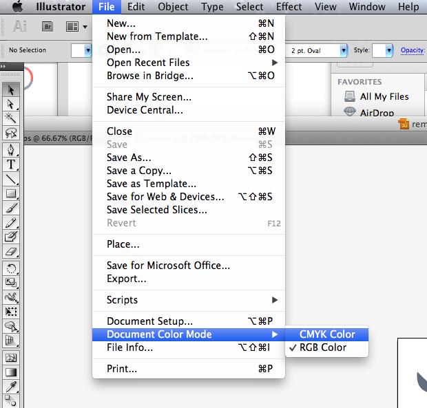 как пересохранить картинку в RGB в Illustrator