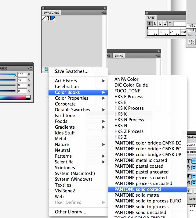 как сделать цвет объекта пантоном в Adobe Illustrator