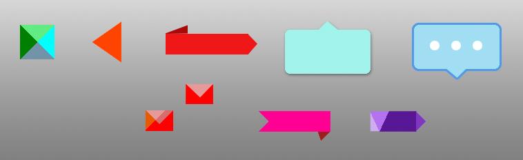 Треугольники и уголки с помощью CSS